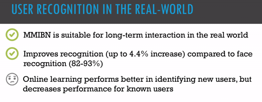 Slide (title) User Recognition in the Real World